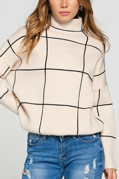 Pretty Little Things Grid Pattern Sweater - Product List Image