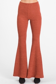 Pretty Little Things Knit Flare Pants - Front full body