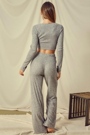 Pretty Little Things Knotted Lounge Top - Side cropped