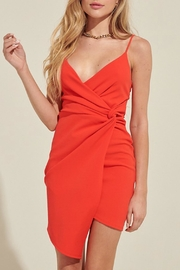 Pretty Little Things Knotted Mini Dress - Front cropped