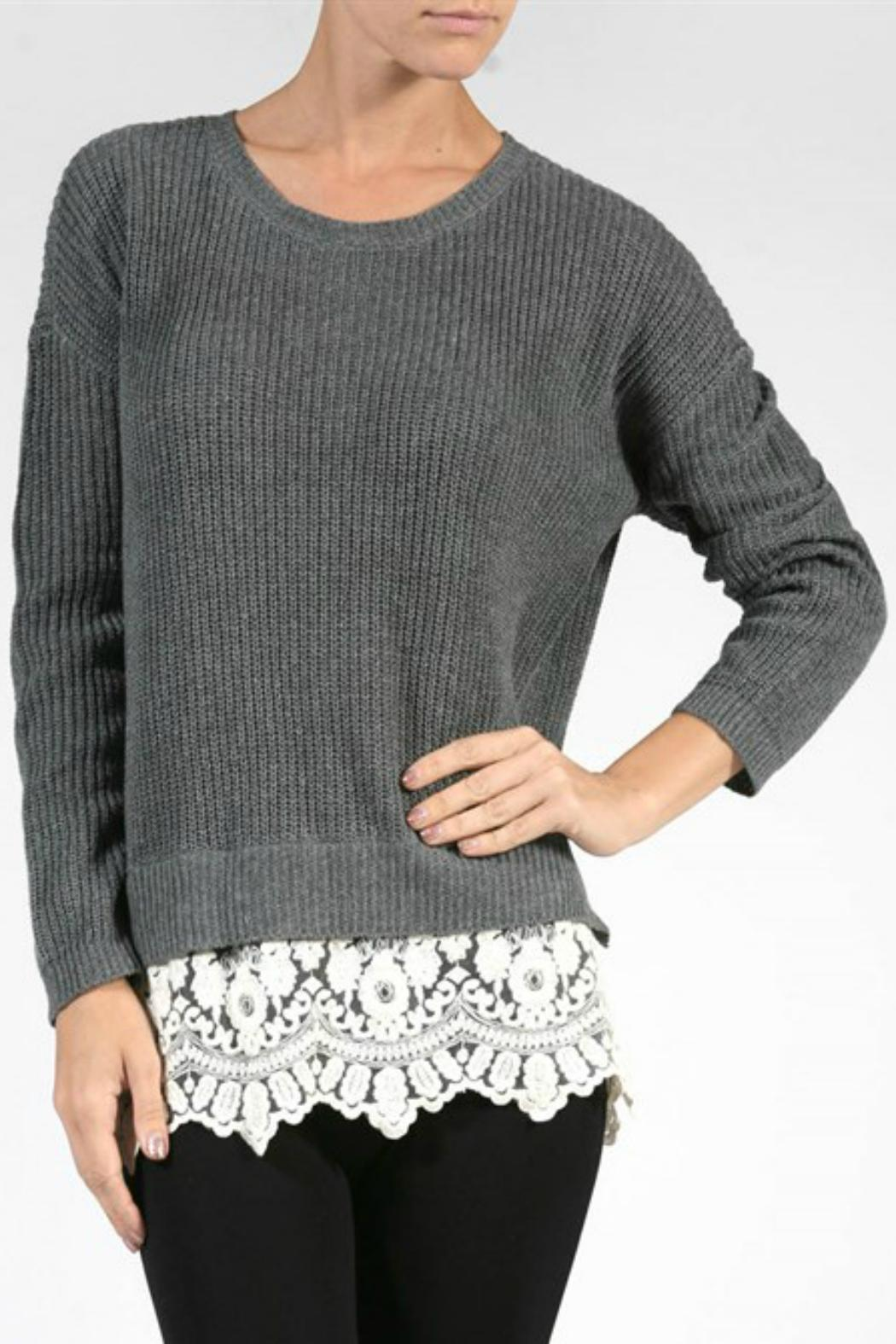 Pretty Little Things Lace Hem Sweater from New Hampshire — Shoptiques