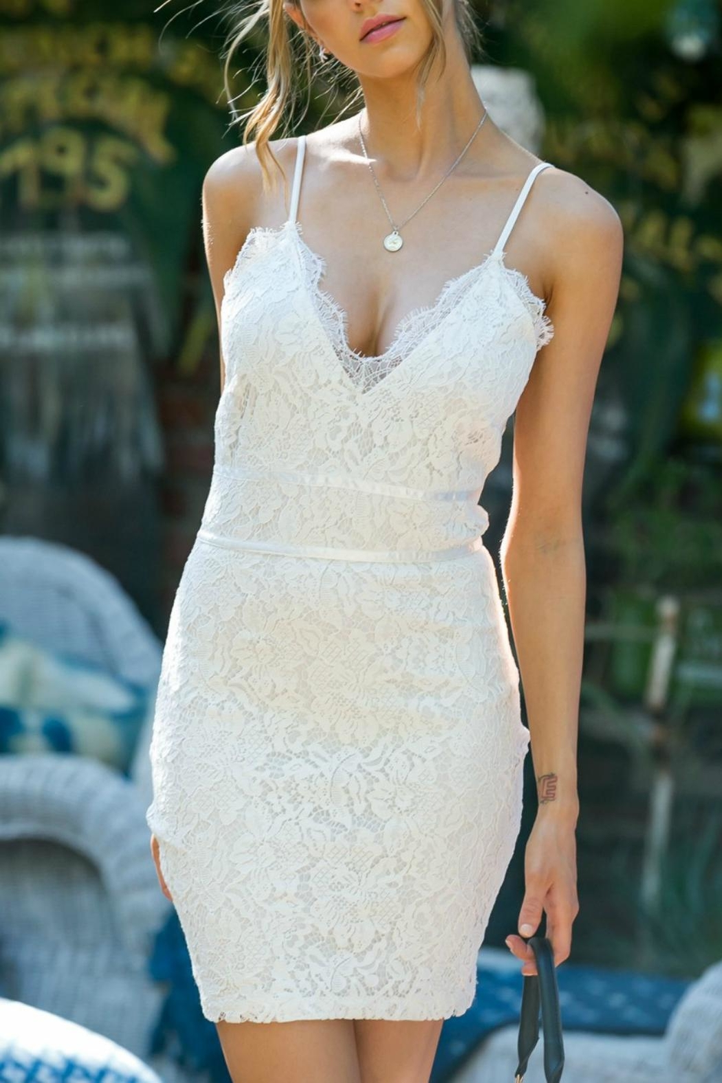 Pretty Little Things Lace Slip Dress - Main Image