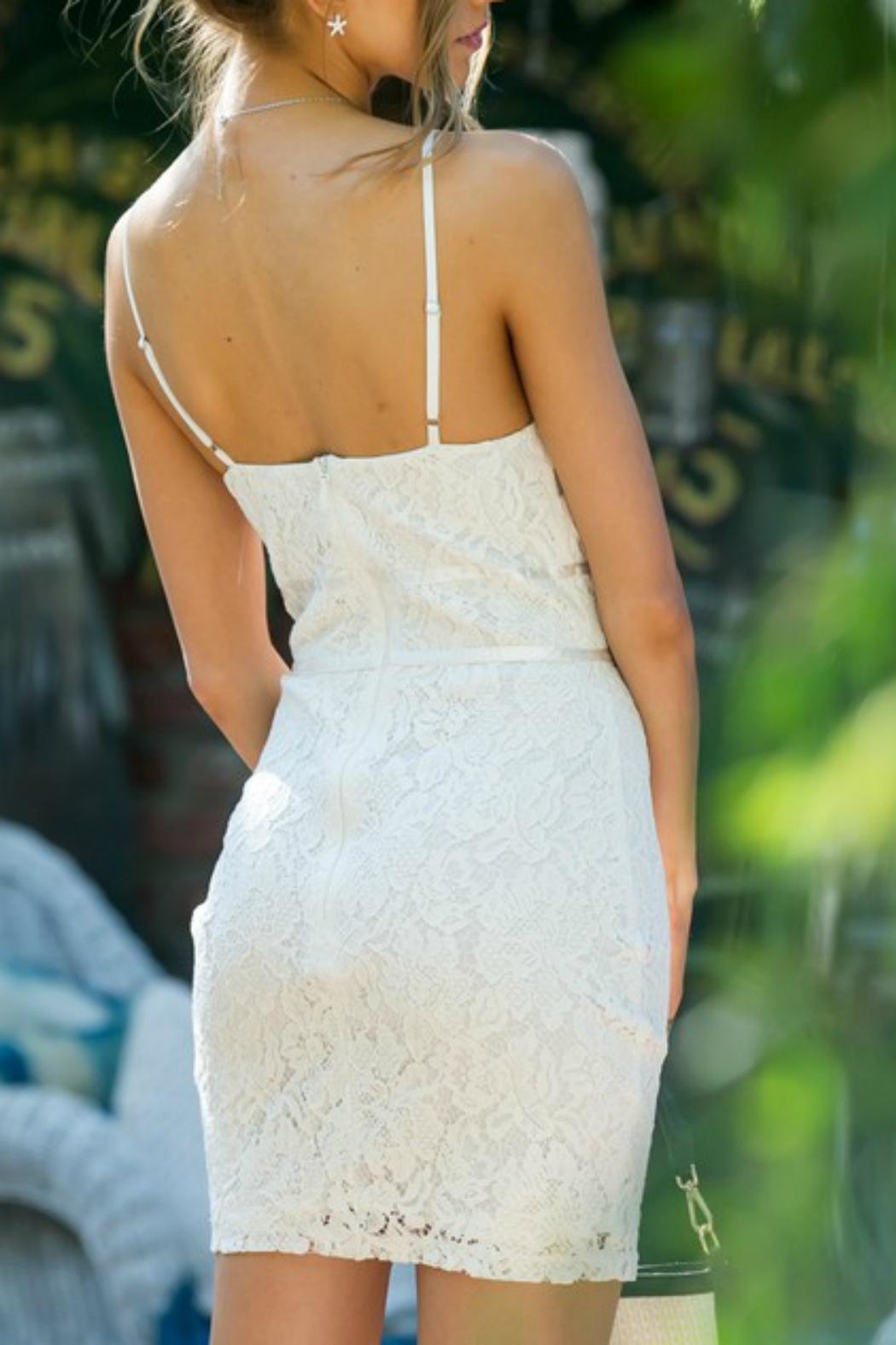 Pretty Little Things Lace Slip Dress - Front Full Image