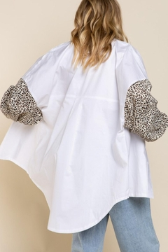 Pretty Little Things Leopard Collared Shirt - Alternate List Image
