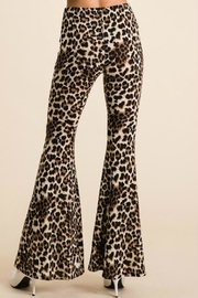 Pretty Little Things Leopard Flare Pants - Side cropped
