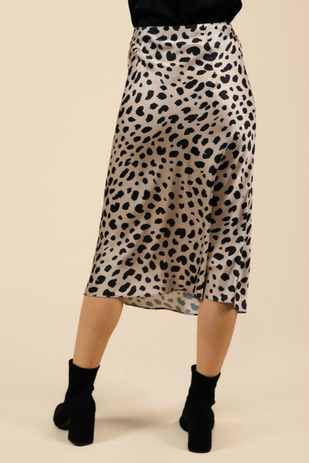 Pretty Little Things Leopard Midi Skirt - Side Cropped Image