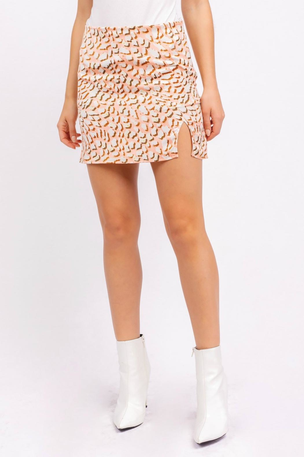 Pretty Little Things Leopard Mini Skirt - Main Image