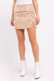 Pretty Little Things Leopard Mini Skirt - Front cropped
