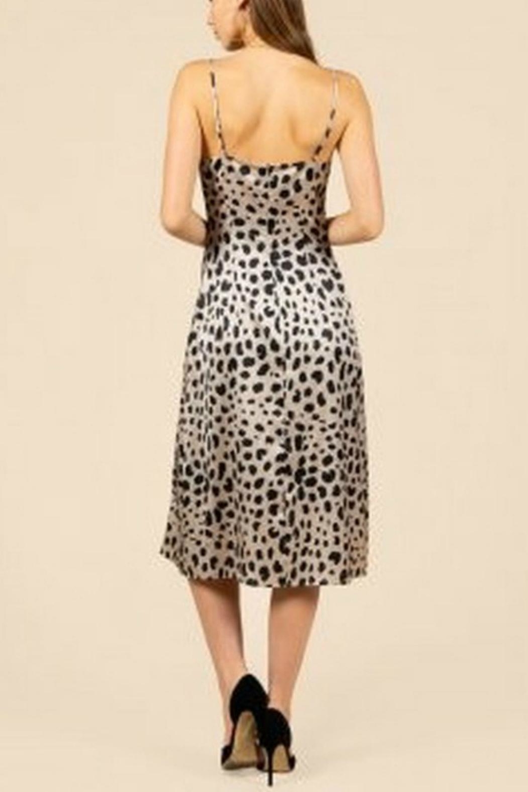 Pretty Little Things Leopard Slip Dress - Front Full Image