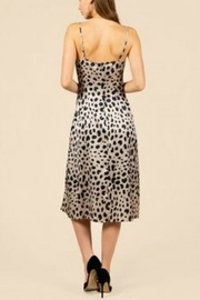 Pretty Little Things Leopard Slip Dress - Front full body