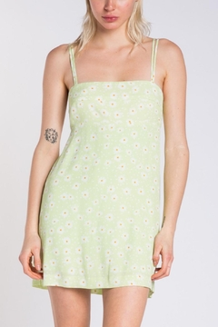 Pretty Little Things Lime Floral Dress - Product List Image