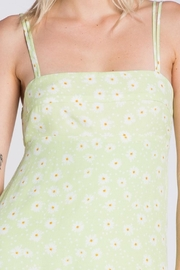 Pretty Little Things Lime Floral Dress - Side cropped