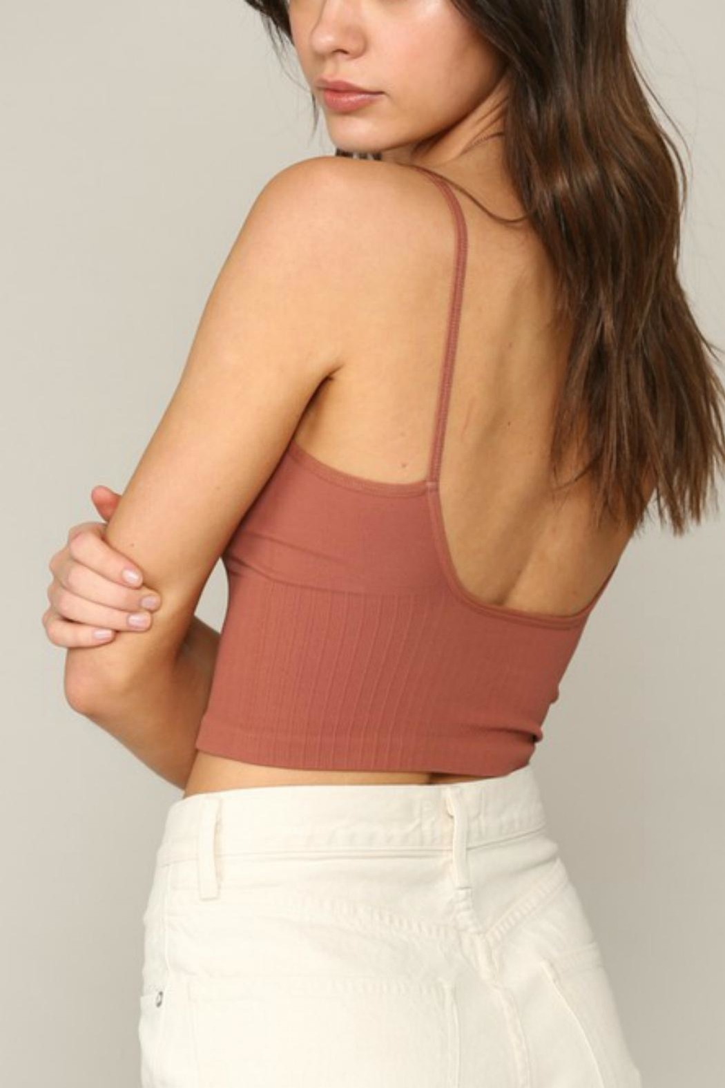 Pretty Little Things Low-Back Seamless Top - Front Full Image