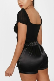Pretty Little Things Mesh Milkmaid Top - Front full body