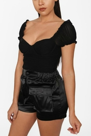 Pretty Little Things Mesh Milkmaid Top - Front cropped