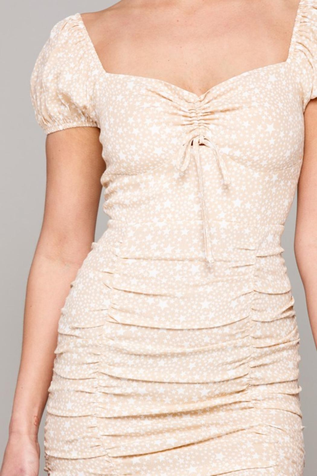 Pretty Little Things Milkmaid Stars Dress - Side Cropped Image