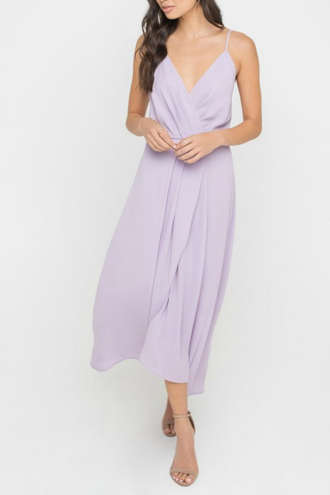 Pretty Little Things Minimalistic Midi Dress - Front Cropped Image