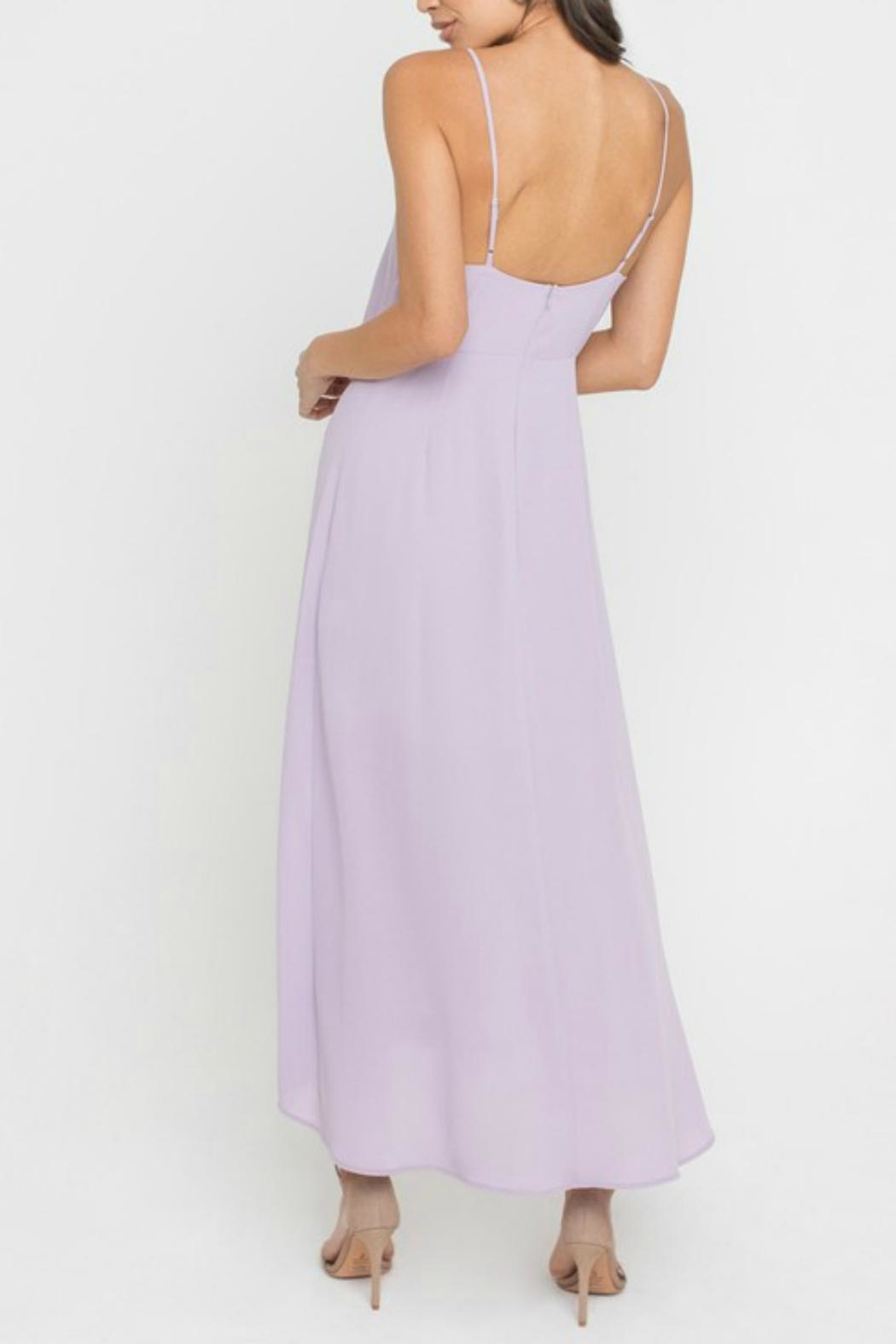Pretty Little Things Minimalistic Midi Dress - Side Cropped Image