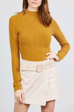 Pretty Little Things Mockneck Crop Top - Product List Image
