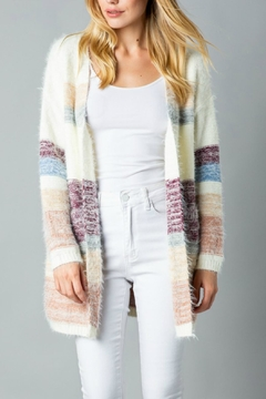 Pretty Little Things Mohair Colorblock Cardigan - Product List Image