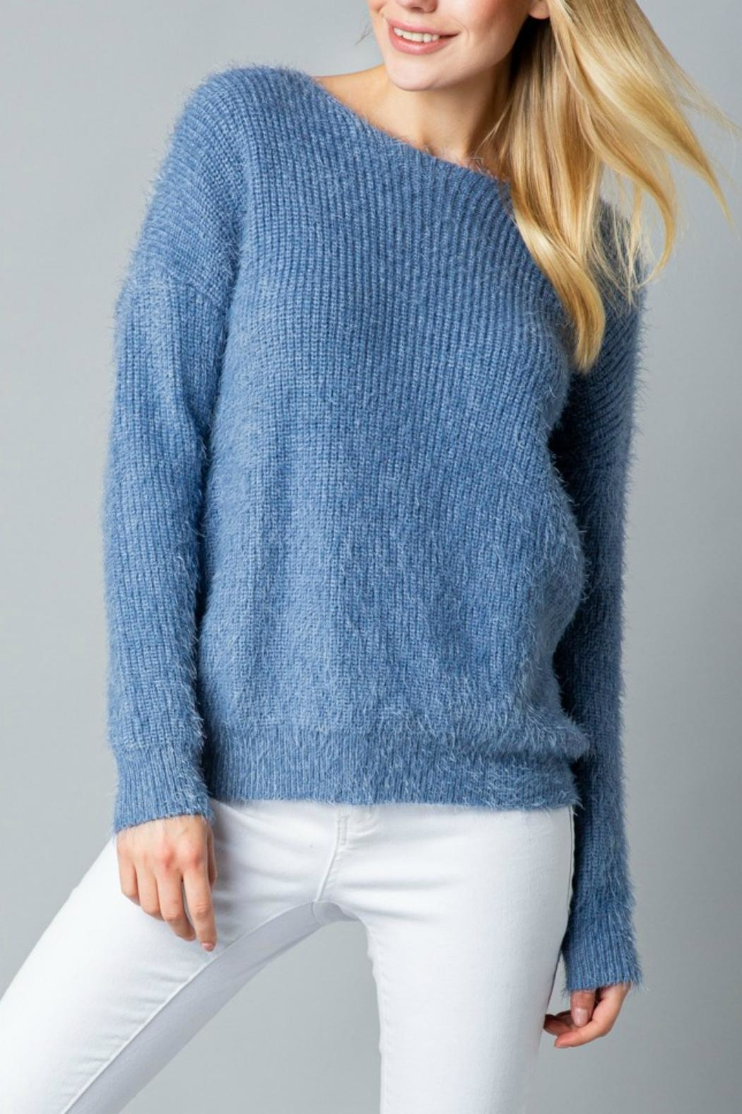 Pretty Little Things Mohair Knotted Sweater - Main Image