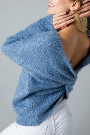 Pretty Little Things Mohair Knotted Sweater - Front full body
