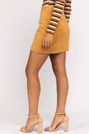 Pretty Little Things Mustard Corduroy Skirt - Front full body