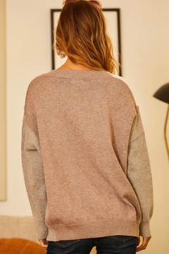 Pretty Little Things Neutrals Colorblock Sweater - Alternate List Image