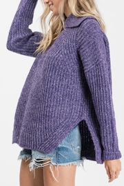 Pretty Little Things Open Cowlneck Sweater - Front full body