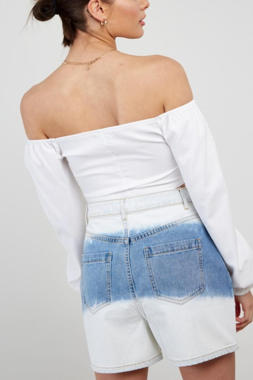 Pretty Little Things Ots Corset Blouse - Back Cropped Image