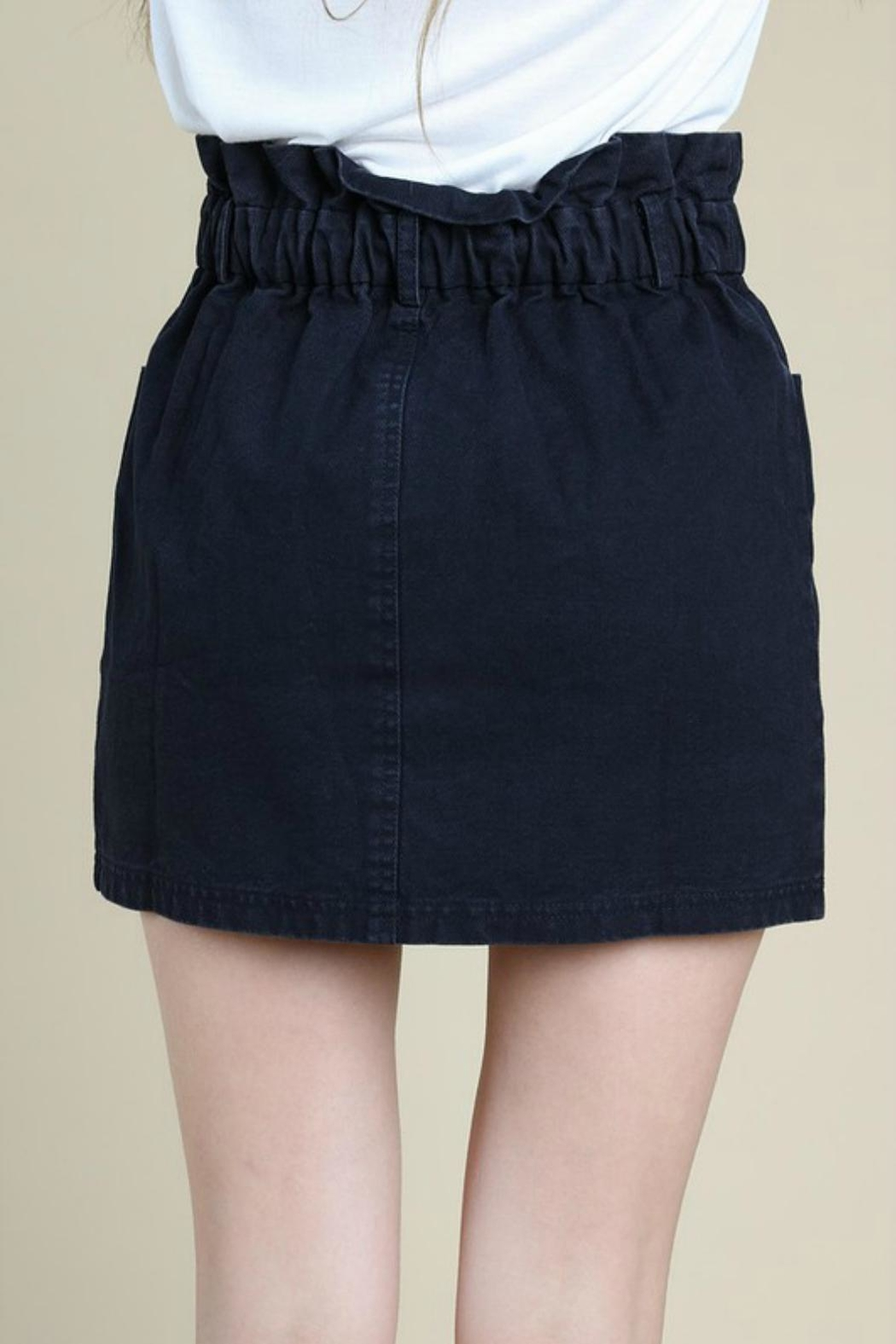 Pretty Little Things Paperbag Denim Skirt - Side Cropped Image