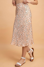 Pretty Little Things Peachy Leopard Skirt - Front full body