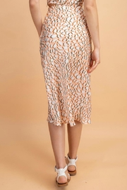 Pretty Little Things Peachy Leopard Skirt - Side cropped