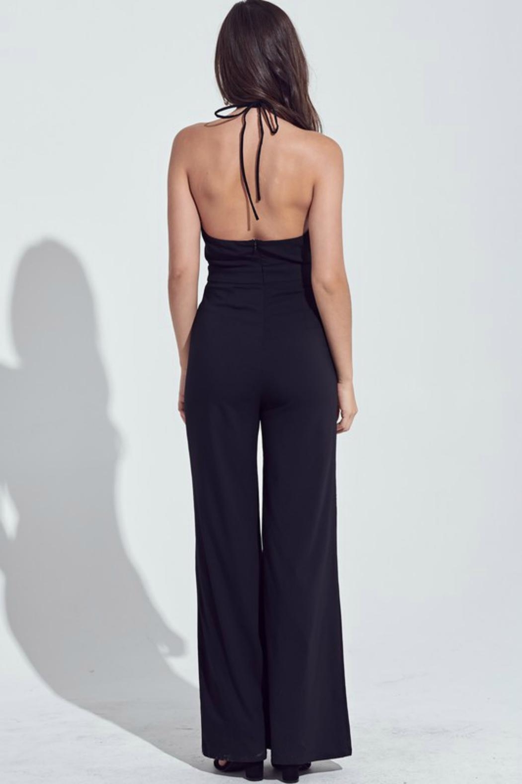 Pretty Little Things Peekaboo Halter Jumpsuit - Front Full Image