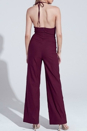 Pretty Little Things Peekaboo Halter Jumpsuit - Front full body