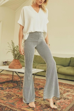 Pretty Little Things Pinstripe Flare Pants - Product List Image