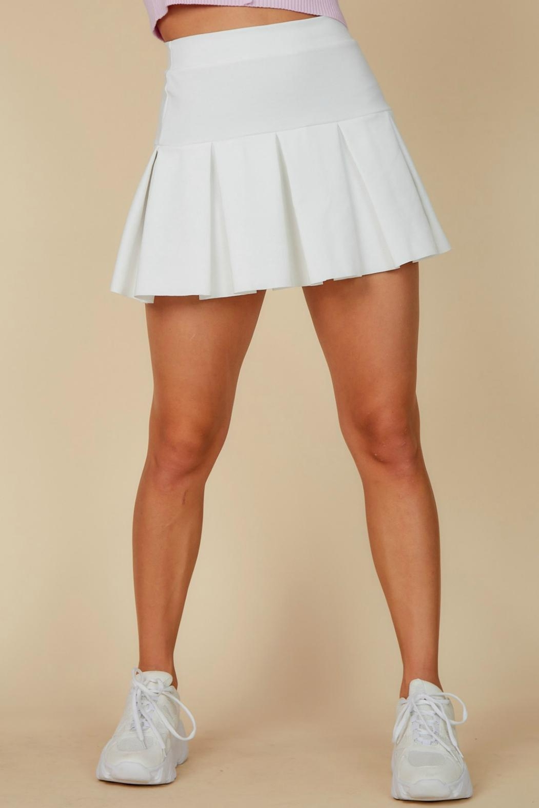 Pretty Little Things Pleated Tennis Skirt - Main Image