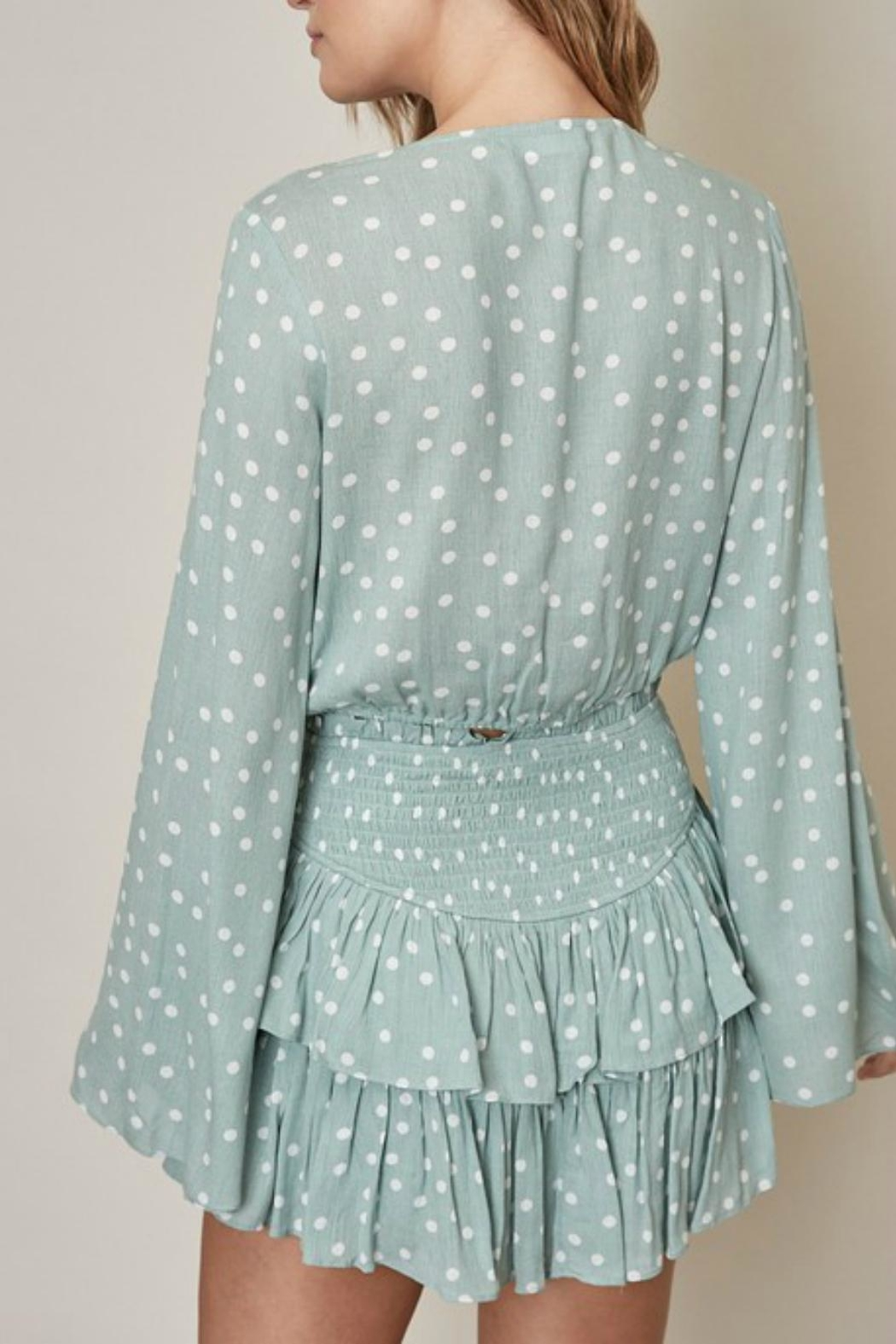 Pretty Little Things Polka Dot Blouse - Side Cropped Image