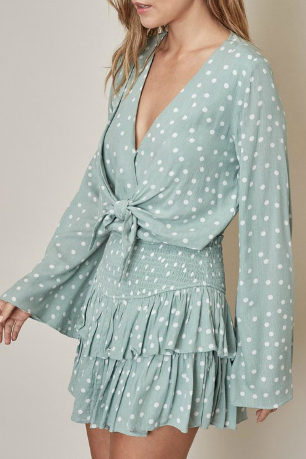 Pretty Little Things Polka Dot Blouse - Front Full Image