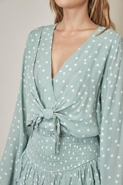 Pretty Little Things Polka Dot Blouse - Back cropped