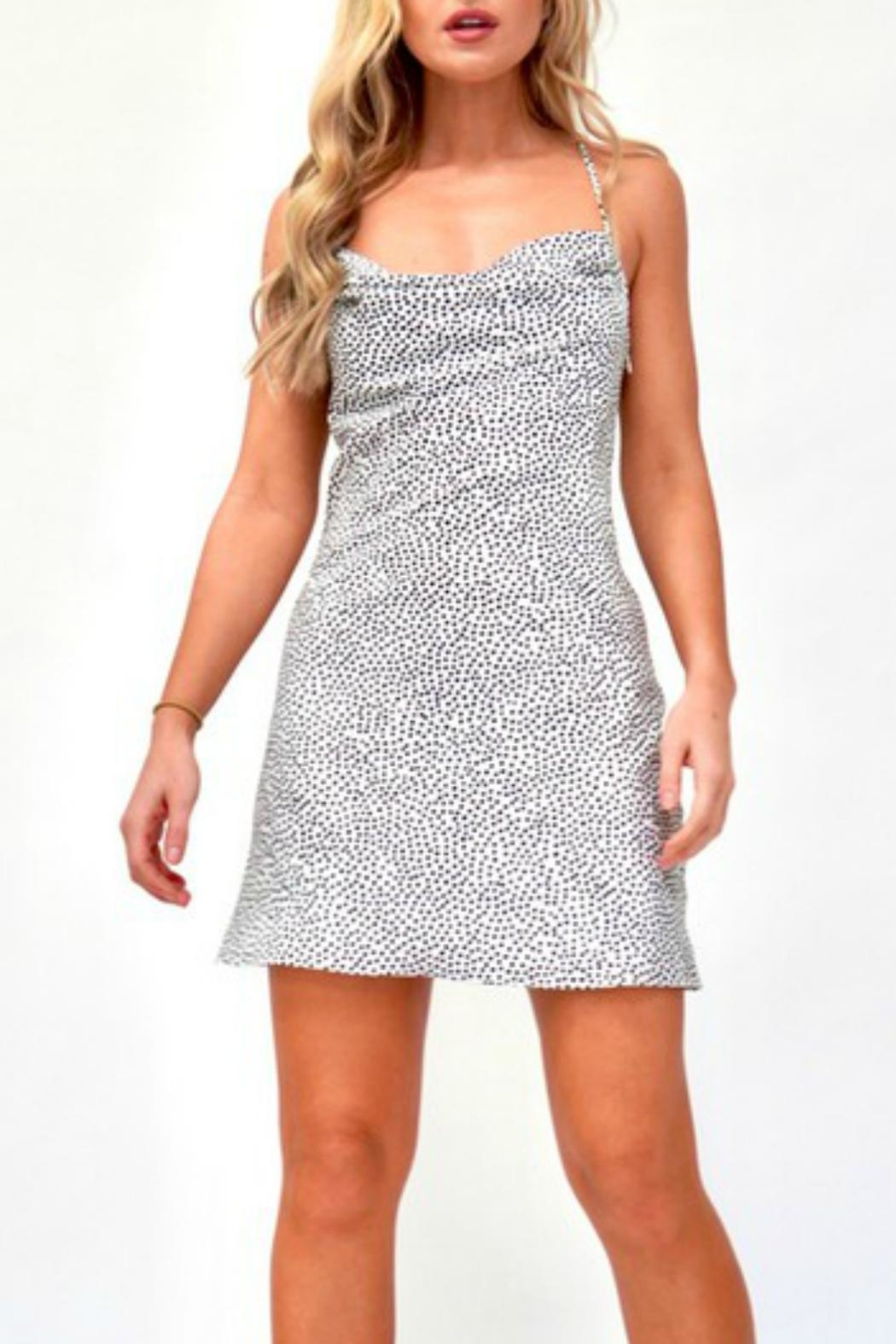 Pretty Little Things Polka Dot Dress - Front Cropped Image