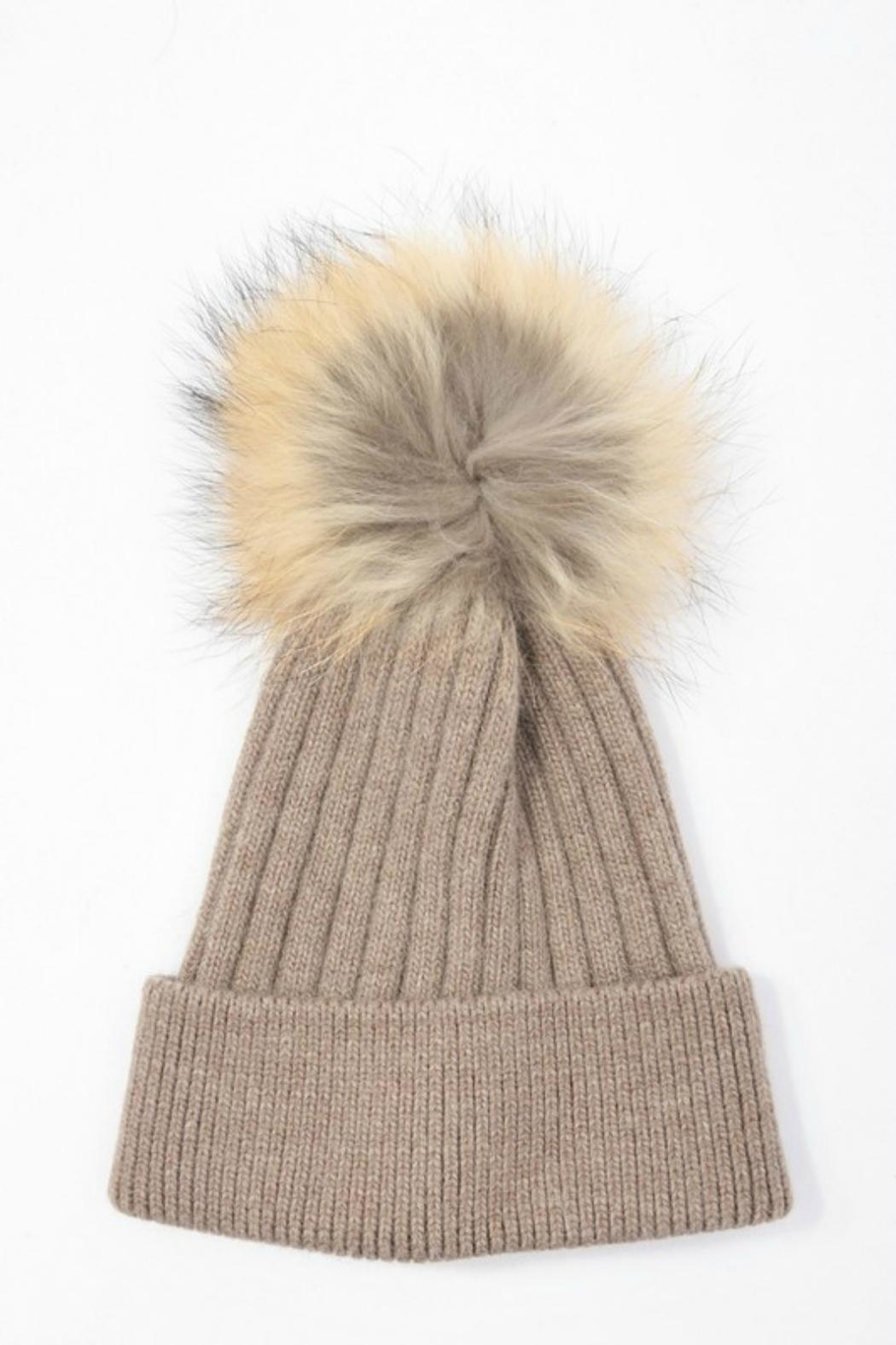 Pretty Little Things Pom Pom Hat - Front Cropped Image