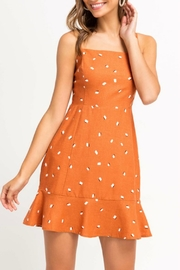 Pretty Little Things Printed Ruffle Dress - Front cropped