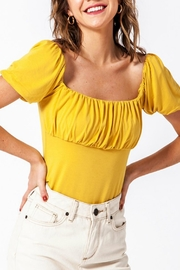 Pretty Little Things Puff Sleeve Top - Front cropped