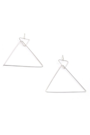 Pretty Little Things Pyramid Hoop Earrings - Product Mini Image