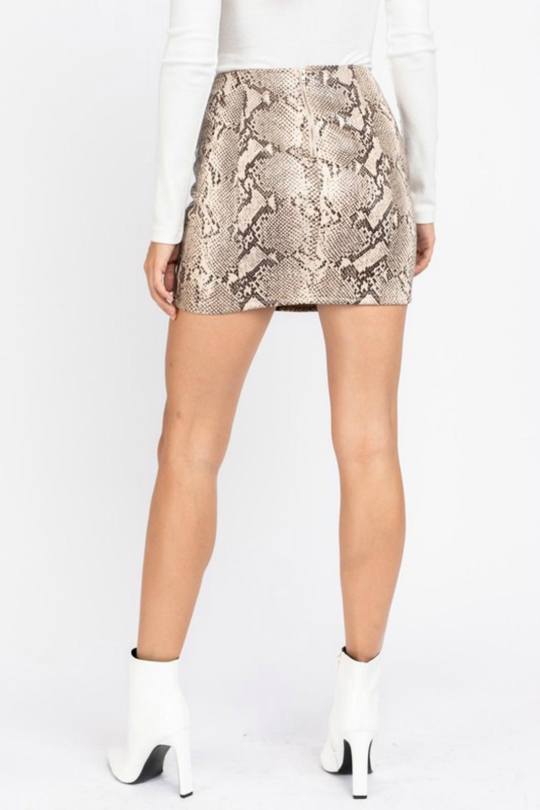 Pretty Little Things Python Snakeskin Skirt - Front Full Image