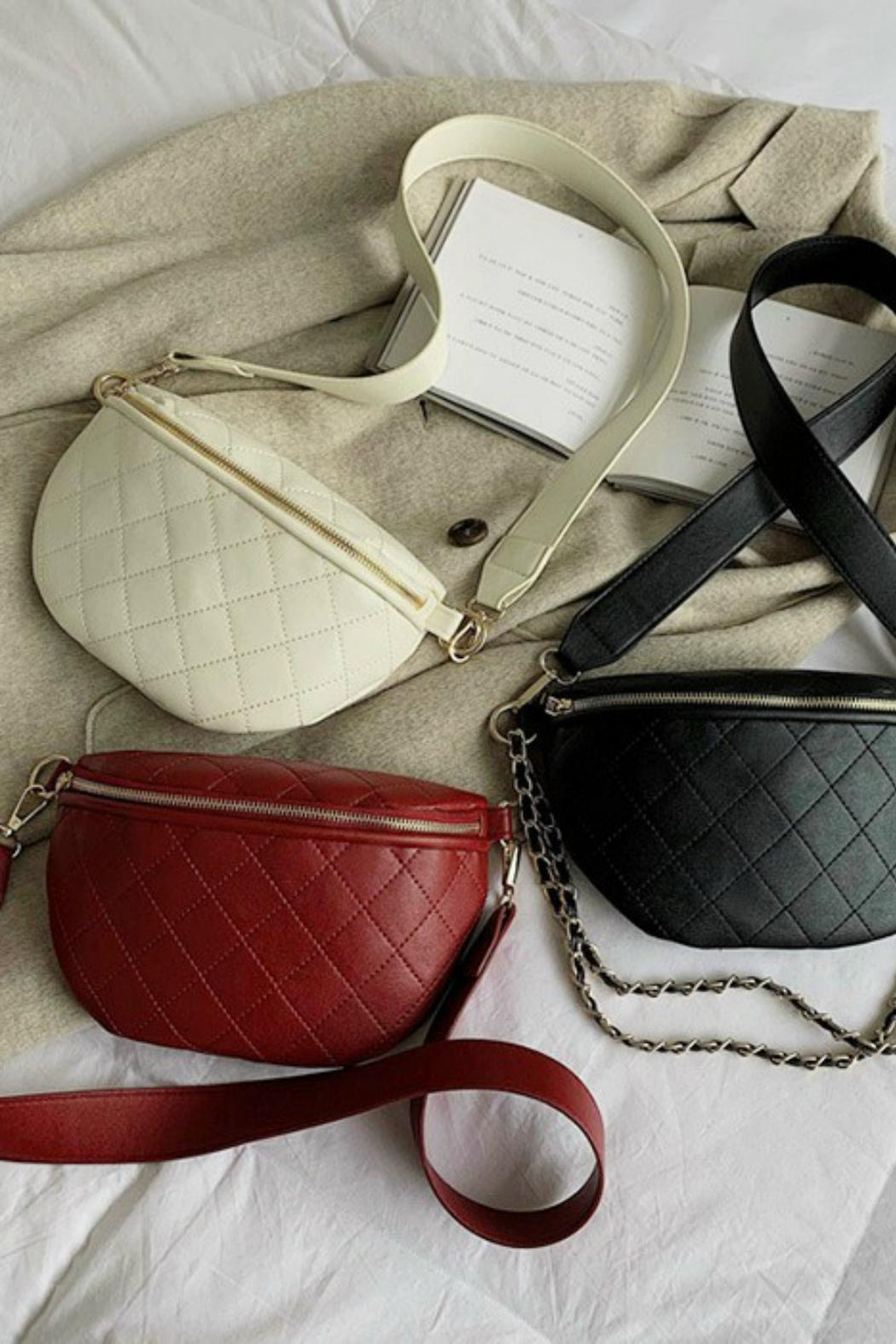 Pretty Little Things Quilted Crossbody Bag - Main Image