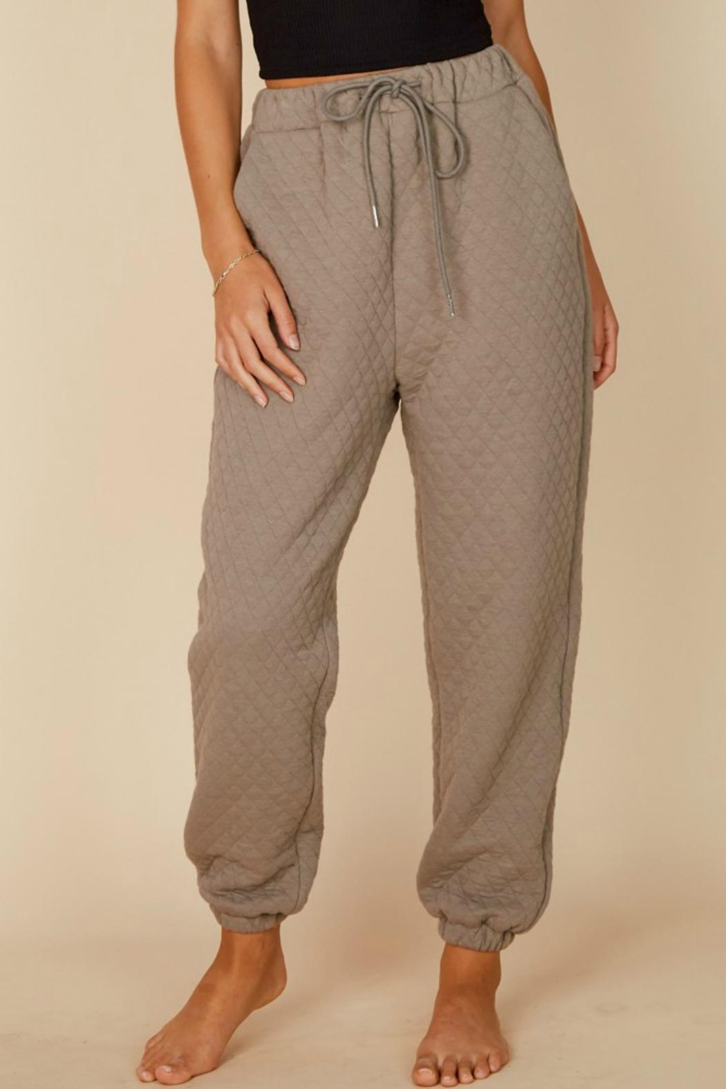 Pretty Little Things Quilted Joggers - Main Image