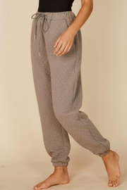 Pretty Little Things Quilted Joggers - Front full body