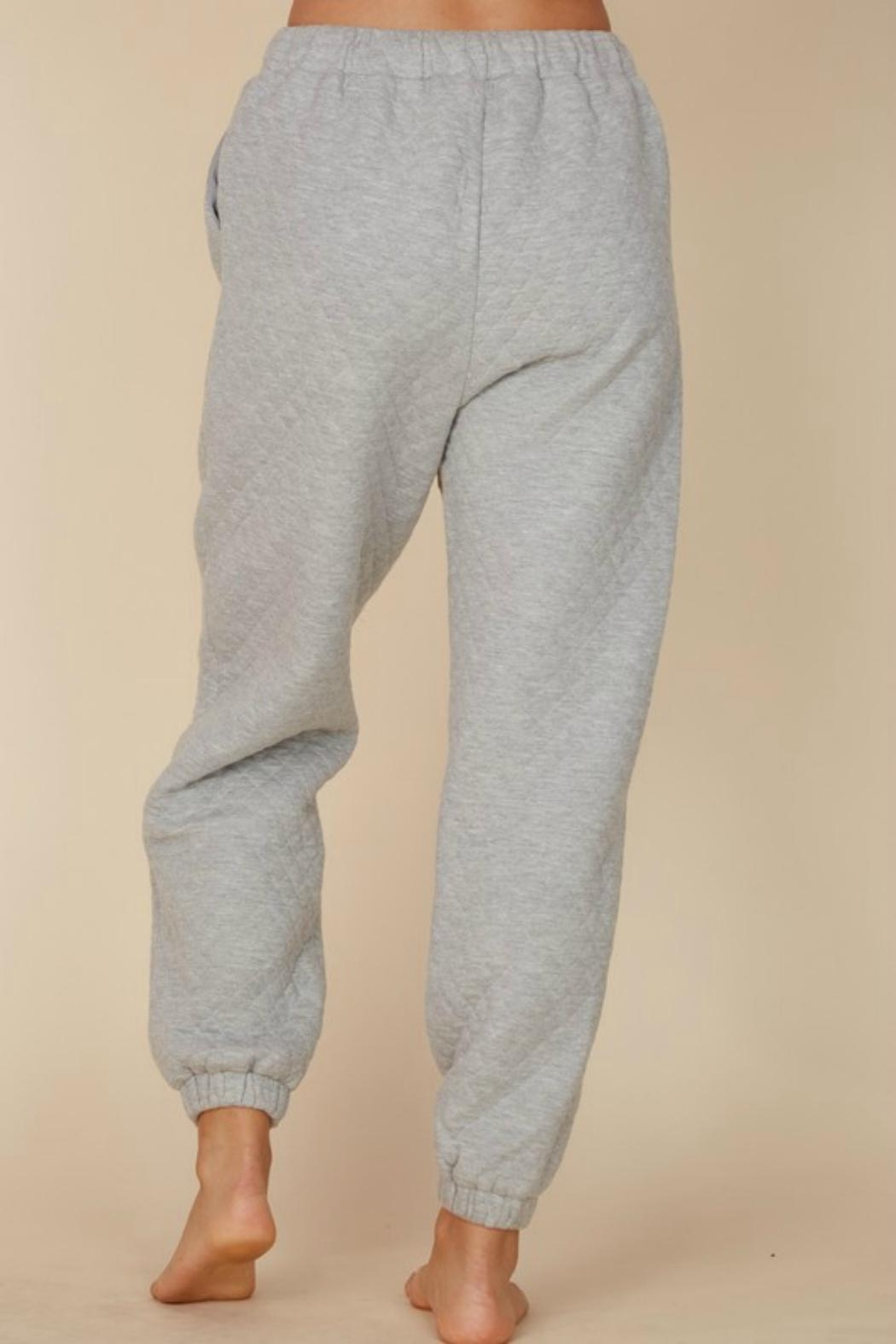 Pretty Little Things Quilted Joggers - Side Cropped Image